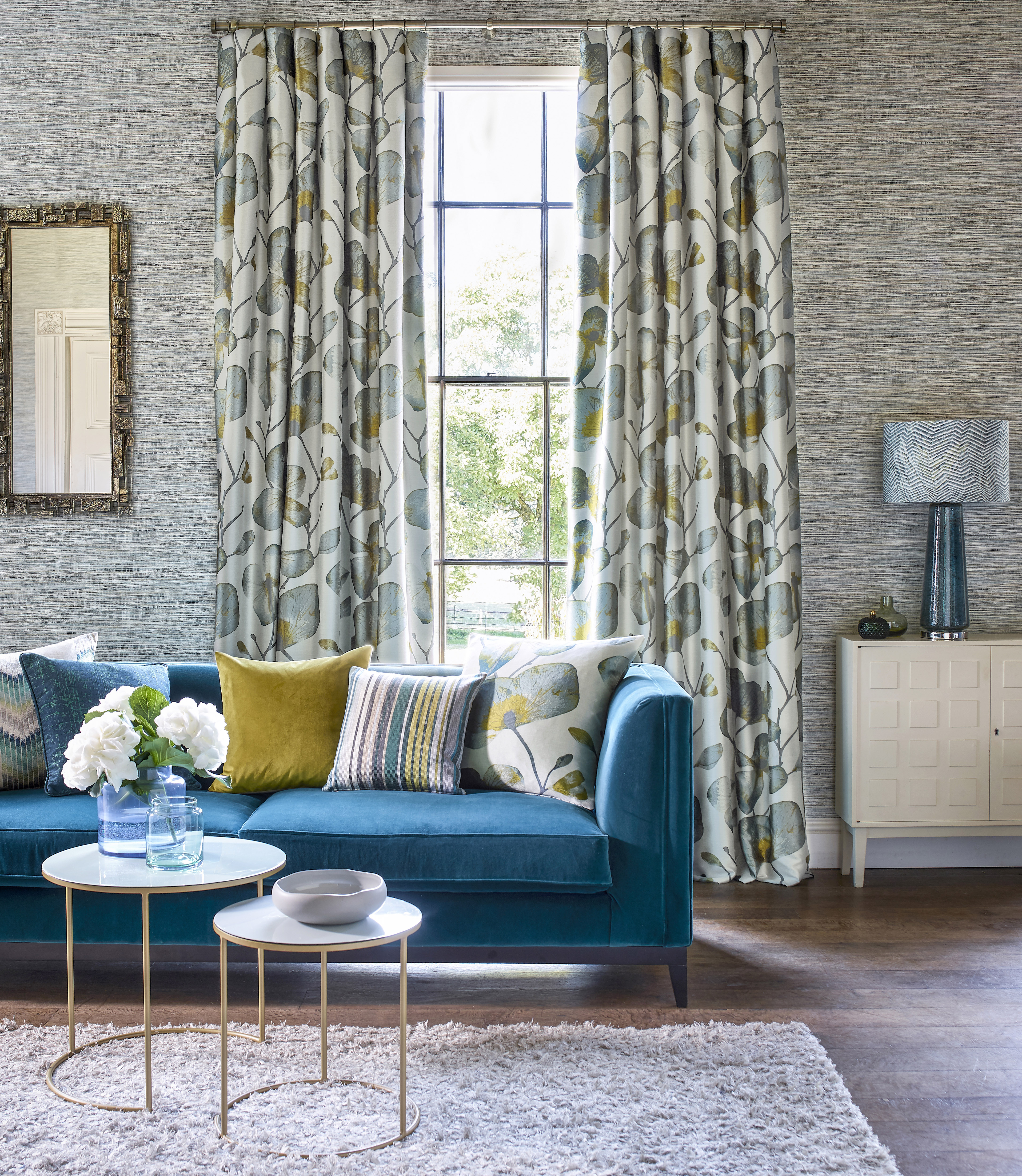 Colour and fabric ideas for the living room